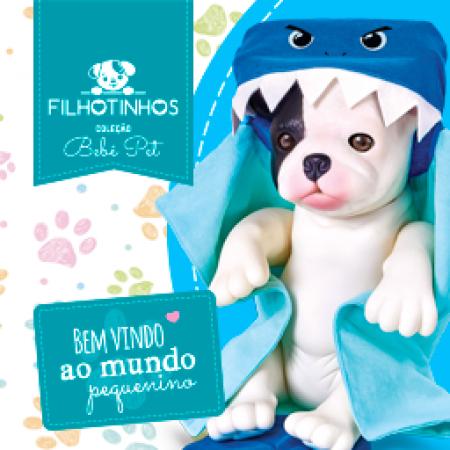 COLECAO BEBE PET - FILHOTINHOS - HORA DO BANHO - BULDOGUE