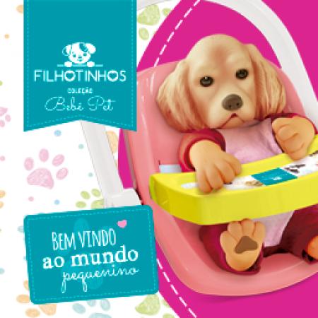 COLECAO BEBE PET - FILHOTINHOS - HORA DO PASSEIO - COCKER