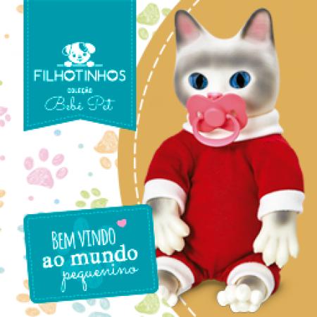 COLECAO BEBE PET - FILHOTINHOS - GATO