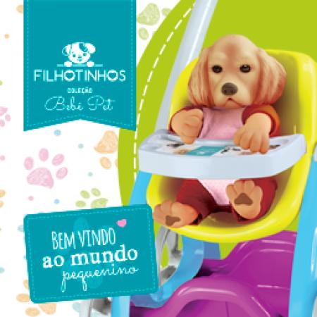 COLECAO BEBE PET - FILHOTINHOS - CARRINHO DE PASSEIO