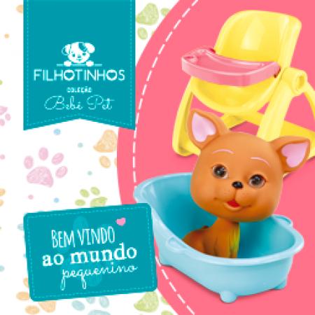 COLECAO BEBE PET - FILHOTINHOS - HOTELZINHO PET