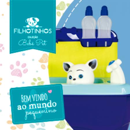 COLECAO GATINHOS - MALETA PET SHOP - AZUL