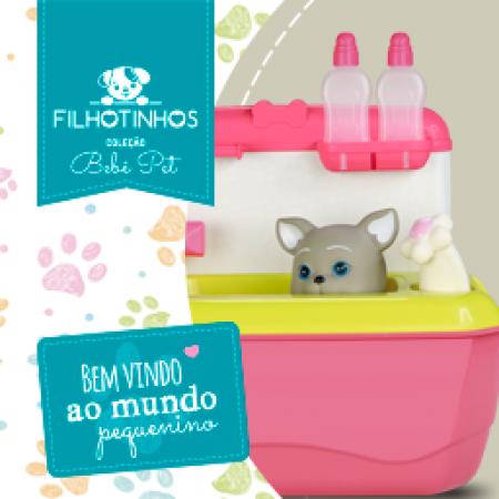 COLECAO GATINHOS - MALETA PET SHOP - ROSA
